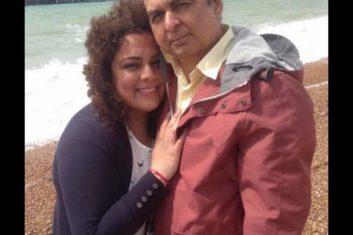 Coronavirus - Sudhir Sharma, 61,of Hounslow  with daughter Pooja, 33. (Courtesy: Facebook)